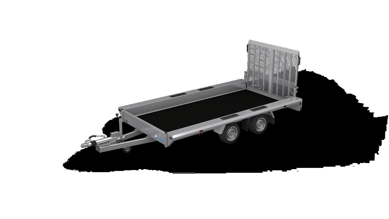 HAPERT transport aanhangwagen INDIGO LF-2 niet kantelbare machinetransporter
