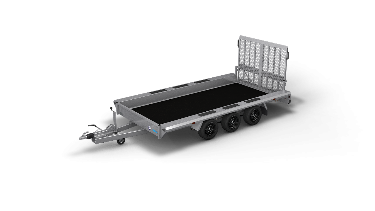 HAPERT transport aanhangwagen INDIGO LF-3 niet kantelbare machinetransporter